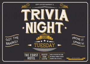 Trivia 2015 Coast Hotel Nightlife